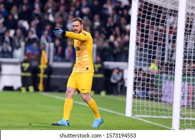 Torino, Italy. 26th November 2019. Champions League 2019-20. Juventus Fc vs Club Atletico de Madrid. Jan Oblak  of Club Atletico de Madrid.