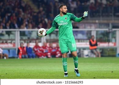 Torino, Italy. 26th September 2019. Italian Serie A . Torino Fc vs Ac Milan. Gianluigi Donnarumma  of Ac Milan.