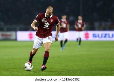 Torino, Italy. 26th September 2019.. Italian Serie A . Torino Fc vs Ac Milan. Lorenzo De Silvestri of Torino FC.