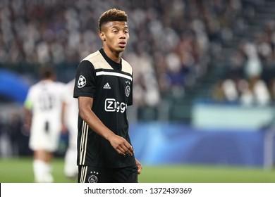 Torino, Italy - April 16,2019. Uefa Champions League 2018/19 quarter final second leg. Juventus Fc vs Afc Ajax . David Neres  of Afc Ajax .