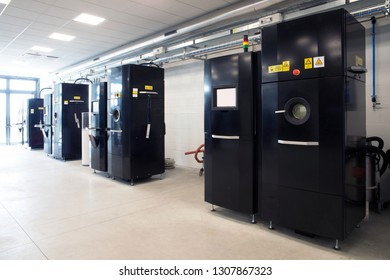 TORINO, ITALY - April 28, 2018 - Plant entirely dedicated to additive manufacturing (Metal 3D Printing) of hi-tech components for the aerospace whit technology  Electron Beam Melting (EBM).