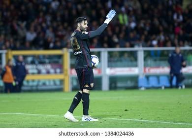 Torino, Italy - April 28, 2019.  Italian Serie A. Torino Fc vs Ac Milan . Salvatore Sirigu of Torino FC  .