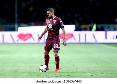 Torino, Italy - April 28, 2019.  Italian Serie A. Torino Fc vs Ac Milan . Tomas Rincon  of Torino FC in action.