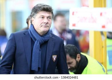Torino, Italy - April 28, 2019.  Italian Serie A. Torino Fc vs Ac Milan . Walter Mazzarri, head coach of Torino FC.