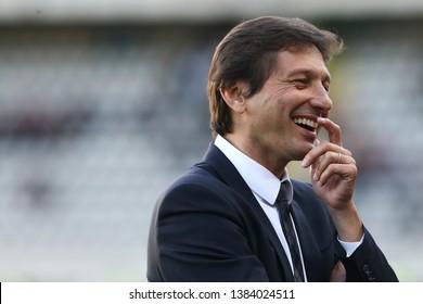 Torino, Italy - April 28, 2019.  Italian Serie A. Torino Fc vs Ac Milan . Leonardo Nascimento de Araujo of Ac Milan  .