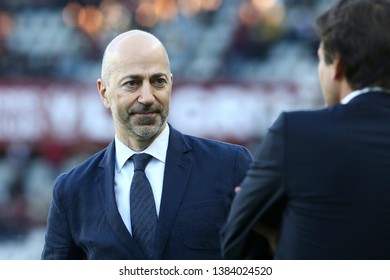 Torino, Italy - April 28, 2019.  Italian Serie A. Torino Fc vs Ac Milan . Ivan Gazidis, CEO of Ac Milan  .