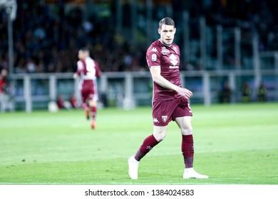 Torino, Italy - April 28, 2019.  Italian Serie A. Torino Fc vs Ac Milan . Andrea Belotti of Torino FC .