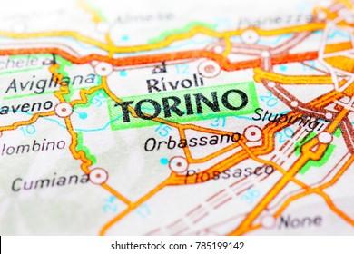 Torino Italy, Torino map