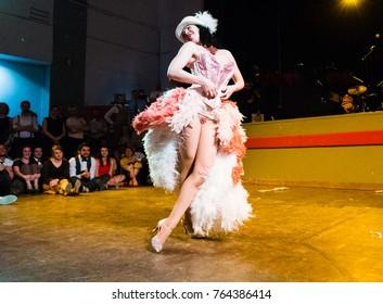 Torino, Italy. March 20, 2017. Swing train festival Burlesque show