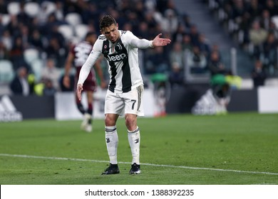 Torino, Italy - May 03, 2019. Italian Serie A. Juventus Fc vs Torino Fc. Cristiano Ronaldo of Juventus FC .