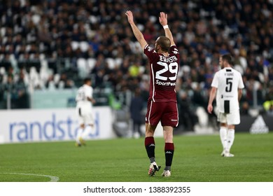 Torino, Italy - May 03, 2019.  Italian Serie A. Juventus Fc vs Torino Fc. Lorenzo De Silvestri of Torino FC .