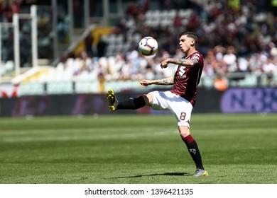 Torino, Italy - May 12, 2019.  Italian Serie A. Torino Fc vs Us Sassuolo Calcio . Daniele Baselli of Torino FC  .
