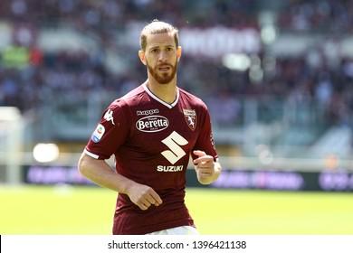 Torino, Italy - May 12, 2019.  Italian Serie A. Torino Fc vs Us Sassuolo Calcio . Cristian Ansaldi  of Torino FC  .