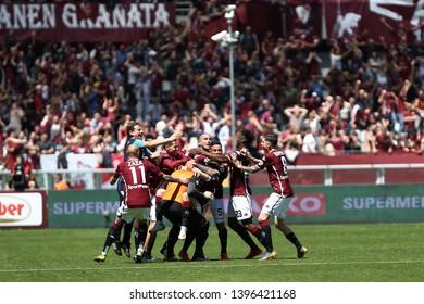 Torino, Italy - May 12, 2019.  Italian Serie A. Torino Fc vs Us Sassuolo Calcio . Players of Torino FC  .