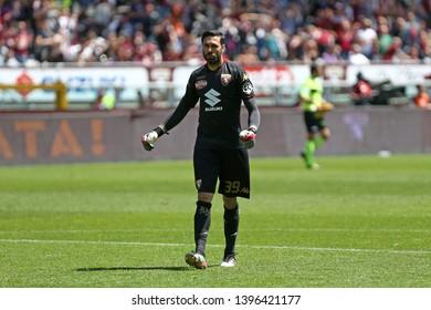 Torino, Italy - May 12, 2019.  Italian Serie A. Torino Fc vs Us Sassuolo Calcio . Salvatore Sirigu of Torino FC  .