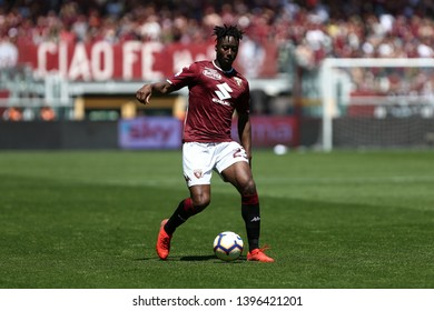 Torino, Italy - May 12, 2019.  Italian Serie A. Torino Fc vs Us Sassuolo Calcio . Soualiho Meite of Torino FC in action.