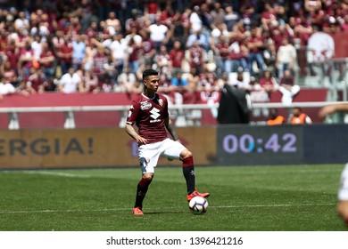 Torino, Italy - May 12, 2019.  Italian Serie A. Torino Fc vs Us Sassuolo Calcio . Armando Izzo of Torino FC .