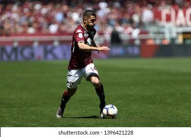 Torino, Italy - May 12, 2019.  Italian Serie A. Torino Fc vs Us Sassuolo Calcio . Iago Falque of Torino FC  .
