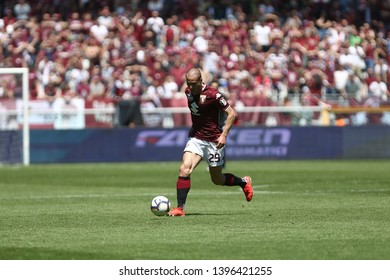 Torino, Italy - May 12, 2019.  Italian Serie A. Torino Fc vs Us Sassuolo Calcio . Lorenzo De Silvestri of Torino FC  .