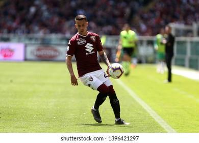 Torino, Italy - May 12, 2019.  Italian Serie A. Torino Fc vs Us Sassuolo Calcio . Alejandro Berenguer of Torino FC .