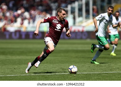 Torino, Italy - May 12, 2019.  Italian Serie A. Torino Fc vs Us Sassuolo Calcio . Andrea Belotti of Torino FC .