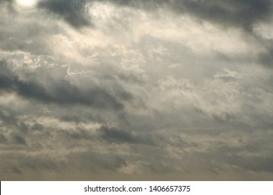 tormented sky with light of hope