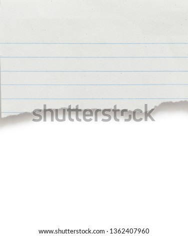 Torn Notebook Dashed Line Sheet On Stock Photo (Edit Now