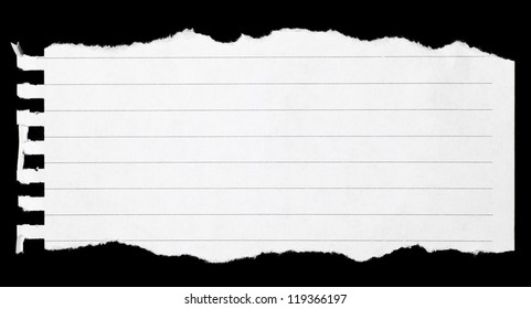 Torn notebook page