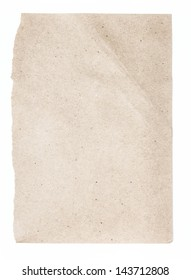 Torn Notepaper recycled brown cardstock texture as background