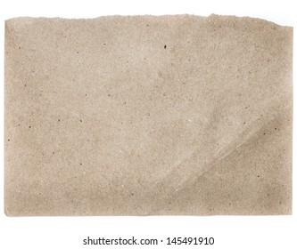Torn Notepaper recycled natural craft paper cardstock texture as background