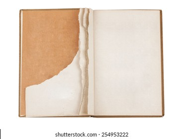 Torn old book