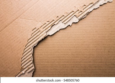 Torn Paper Background. Cardboard Top View.