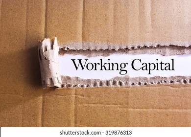 Torn paper box with word Working capital