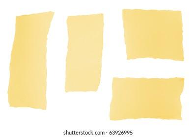 Torn paper design pieces