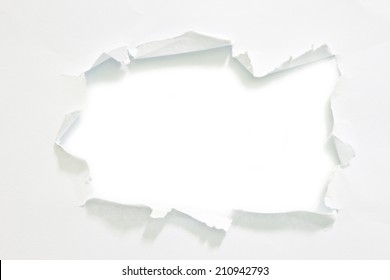 Torn paper isolated on white background , space for copy