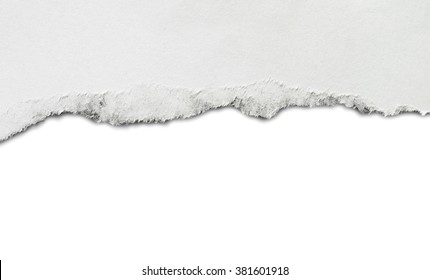 Torn paper, isolated on white background. Copy space