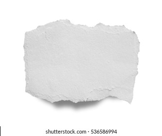 torn paper isolated on white background with clipping path.
