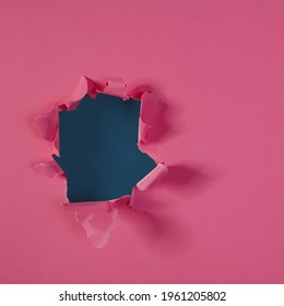 Torn paper of pink kolor and free space for your decoration  - Shutterstock ID 1961205802