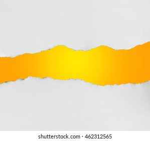 Torn Paper with space for text on orange background