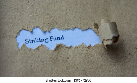 Torn paper with text sinking fund