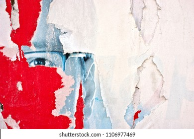 Torn posters grunge creased crumpled paper texture background ripped grunge backdrop surface placard