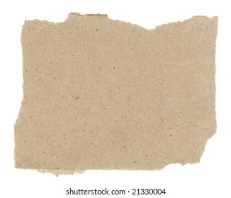 torn sheet of recycled paper