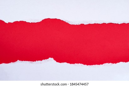 torn white paper with red copy space