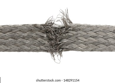 torn wire isolated