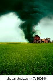 Tornado zerstört ein Haus