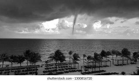 Tornado off the Mexican coastline