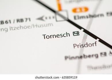Tornesch Station. Hamburg Metro map.
