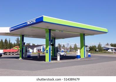 Tornio, Finland - July 20, 2016: Neste unmanned gasoline service station