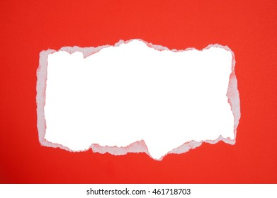 Torn,Ripped paper on isolated white background