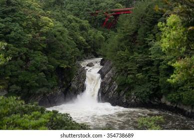 Toroki waterfall Waterfall pouring into the sea Yakushima